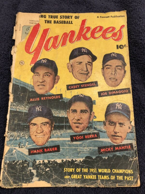 THRILLING TRUE STORY OF THE NY YANKEES 1952 GOLDEN AGE COMIC