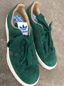 NEW Adidas Green Suede Running Shoes Size 7.5