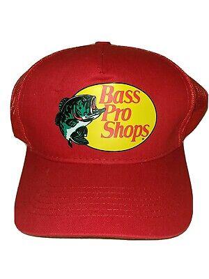 VINTAGE 80s BASS PRO SHOPS Patch Mesh Snapback Trucker Hat Cap Green