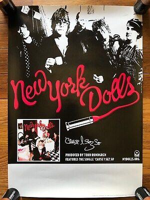 New York Dolls 'Cause I Sez So RARE Original promo Poster '09