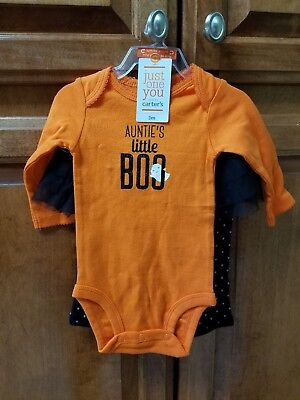 CARTERS JUST ONE YOU CUTE HALLOWEEN 2 PIECE OUTFIT SET GIRL SIZE 3 MONTHS](Cute Girl Halloween Outfits)