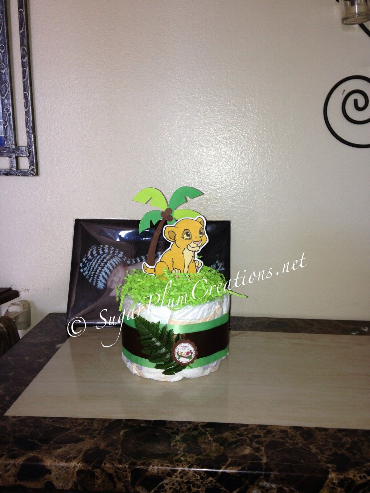 lion king baby simba diaper cake baby shower 3 3 of 6
