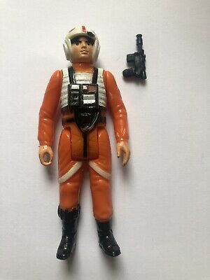 Vintage Star Wars Luke Skywalker X Wing Pilot Figure GMFGI 1978 Raised Bar China
