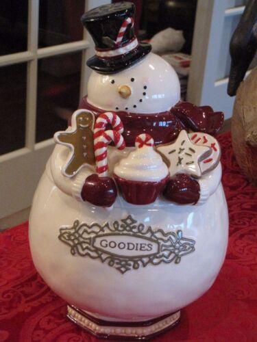 Grasslands Road Snowman Ceramic Goodies / Cookie Jar - 462271