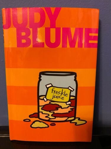 Judy Blume signed Freckle Juice hardcover book