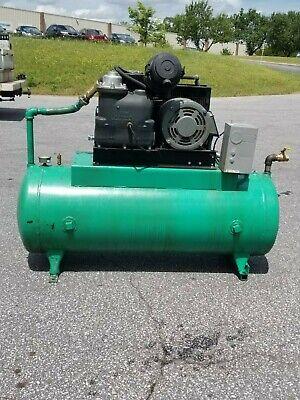 Used 10 Hp Gardner-denver Open Tank Mount Rotary Compressor 230460v