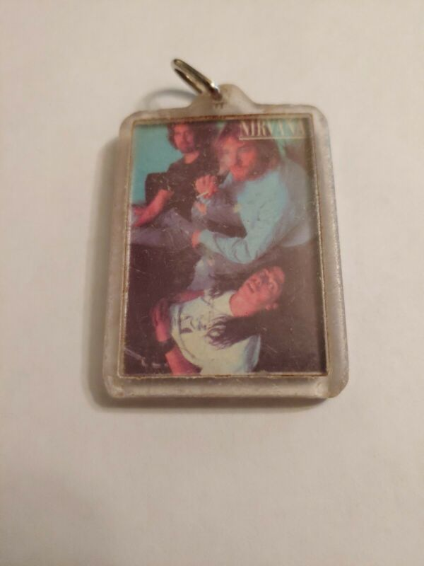 Nirvana Keychain With Band Pic, 1992-1993. EXTREMELY RARE!!!