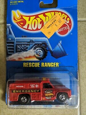 1989 Hot Wheels Workhorses Red Rescue Ranger Truck