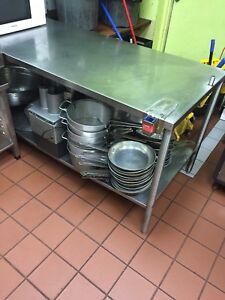 Restaurant Stainless Steel Prep Table