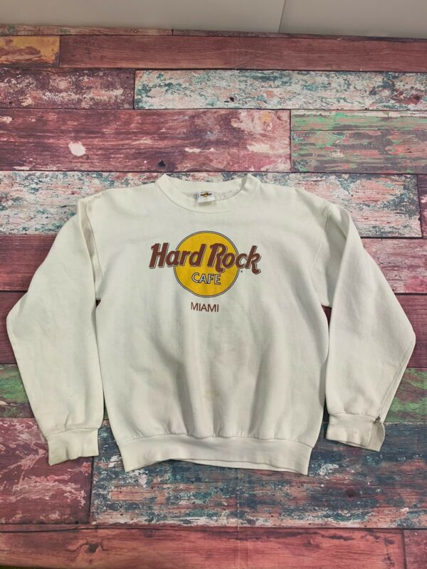 Vintage Hard Rock Cafe Miami Sweatshirt Size Medium