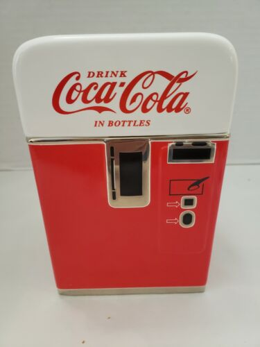 Enesco Coca-Cola Porcelain Vending Machine Style Canister - Brand New! 343617