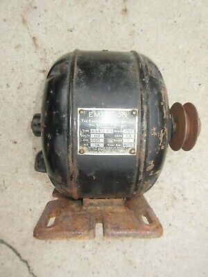 Vintage Emerson Electric Motor Type Fa14 Hp 115v 1750 Rpm 12 Shaft 1 Phase