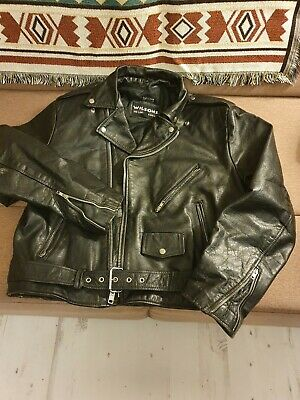 Wilsons Biker Leather Jacket, Vintage 80s
