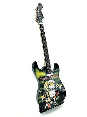 Miniature Fender Standard Stratocaster Guitar - Iron Maiden (Ornamental)