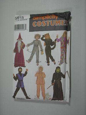 Simplicity 5918 Wizard Cat Mouse Ninja Costume Pattern Child 3 4 5 6 7 8 Uncut - Cat Ninja Costume
