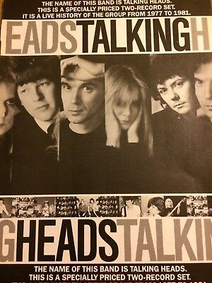 The Talking Heads, The Name of This Band Is, Full Page Vintage Promotional Ad