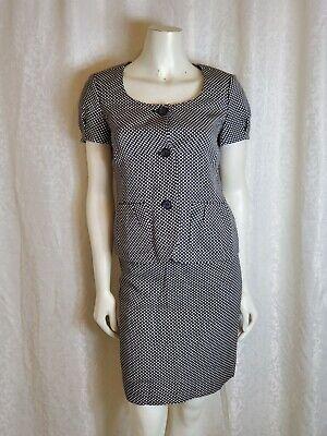 Ann Taylor Women's short sleeve diamond print Skirt Suit Set Black White Size (Short Sleeve Suits Womens)