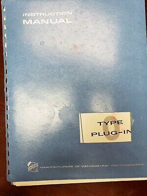 Vintage Tektronix Type 0 Plug-in Instruction Manual