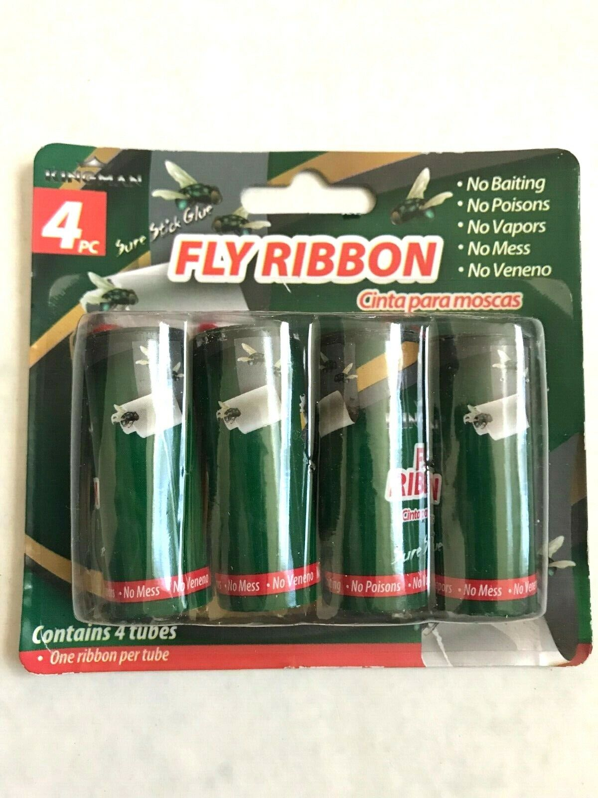 4PC INSECT BUG FLY GLUE PAPER CATCHER TRAP RIBBON TAPE STRIP
