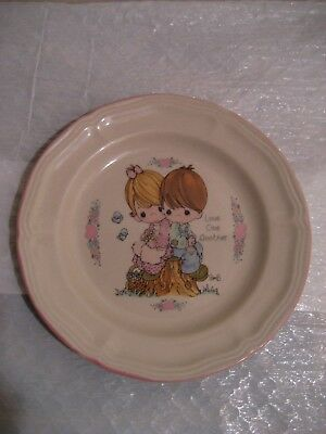 precious moments dinner plate from the enesco collection 1994