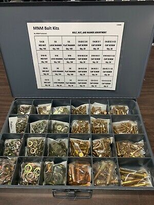 1250 Piece Grade 8 Coarse Thread Nut Bolt Washer Assortment With Metal Drawer