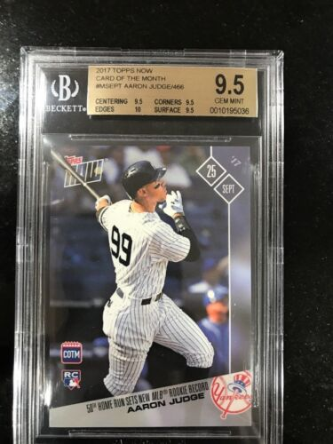 Aaron Judge 50th Hr 2017 Topps Now Card Of The Month September #m-sept Bgs 9.5