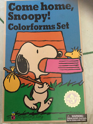 Come Home Snoopy Colorforms Set Charlie Brown Reproduction of 1972 COMPLETE SET