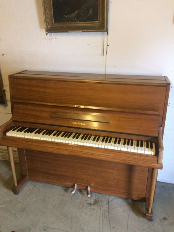 C1963 Good Quality Chappell Upright Piano. Free Delivery In Essex.