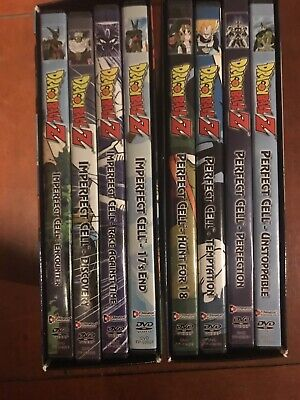 Dragon Ball Z - Imperfect Cell And Perfect Cell Boxed Sets 8 DVDs.