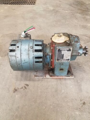 LIQUIDATION Graham Variable Speed Transmission 1/4HP Mac Motor  #8223AB