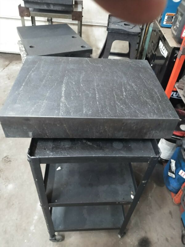 Granite surface plate 18 x 24 x4 With Stand