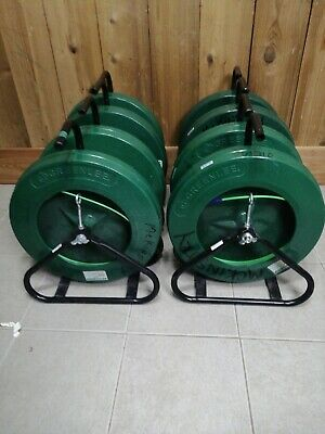 One Greenlee 542-200 Fiber Glass Fish Tape In Reel Stand  316 No Tips