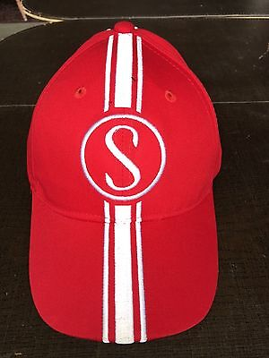 Stingray Hat Schwinn Apple Krate  Red w/white Baseball cap with metal tag