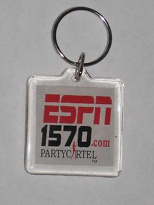 Espn 1570 Com Party Cartel 1570 Am Deportes Keychain Advertising Promo