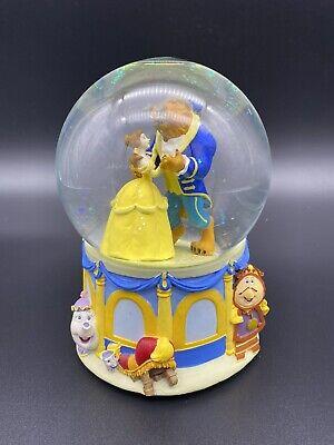 Beauty And The Beast musical Snow Globe 1991 Rare collectible Disney Enesco EUC