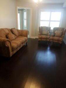 Sofa and two wing chair set