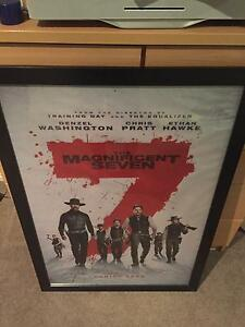 Magnificent Seven poster Framed Wallsend Newcastle Area Preview