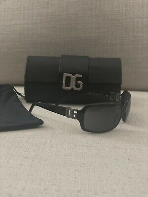 Dolce & Gabbana DG 809S Sunglasses, Black,  With Clutch Case Authentic