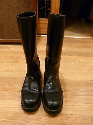 ANN DEMEULEMEESTER Men's Black Leather Knee High Boots EU 42 / US 9