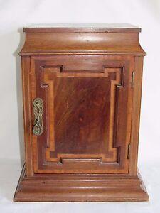 05d68 ancien petit meuble a poser armoire glise pr tre bois marqueterie xix e ebay. Black Bedroom Furniture Sets. Home Design Ideas