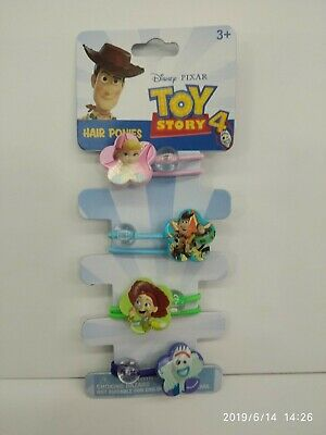 DISNEY TOY STORY GIRL 4 PIECES HAIR PONIES 100% ORIGINAL MUST L@@K (Girl Toy Story)