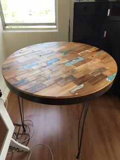Small rustic, round bespoke table
