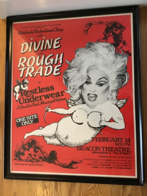 Divine and Rough Trade in Restless Underwear - Beacon Theatre Framed