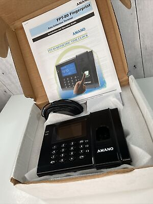 Amano Fpt80 Biometric Time Clock System