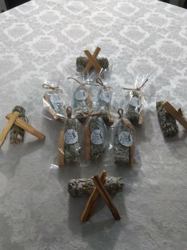 SMUDGE KIT. PALO SANTO AND SAGE Removes Negative Energies. House Cleansing Bless