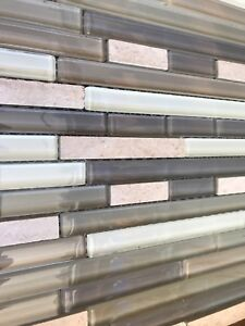 Glass tile stone backsplash