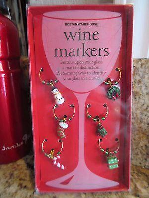 Подвески Wine Glass BOSTON WAREHOUSE CHRISTMAS