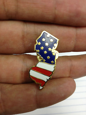 NJ Lapel New Jersey State Lapel Pin NJ Like Chris Christie USA Flag New Style