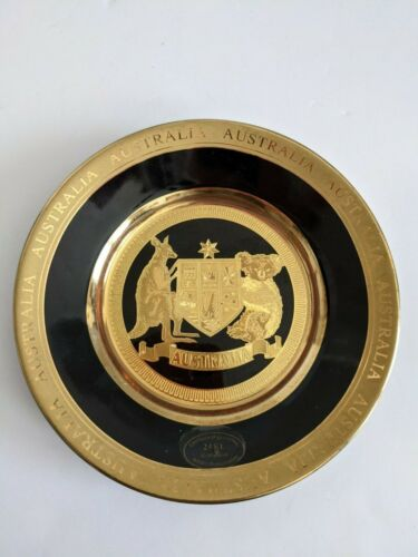 Australia Gold Toned 6 inches plate - 24K - Reproduction