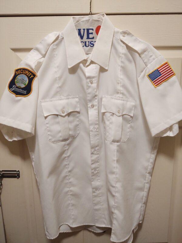 Rare Original Mens XL Graceland Employee Security Shirt with Patches.